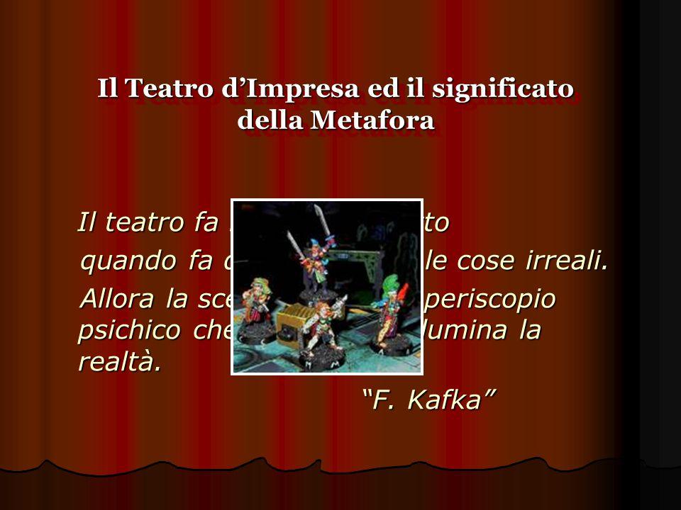 Il Teatro d'Impresa ed il significato della Metafora Il teatro fa maggiore effetto Il teatro fa maggiore effetto quando fa diventare reali le cose irr