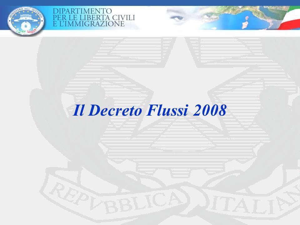 Il Decreto Flussi 2008
