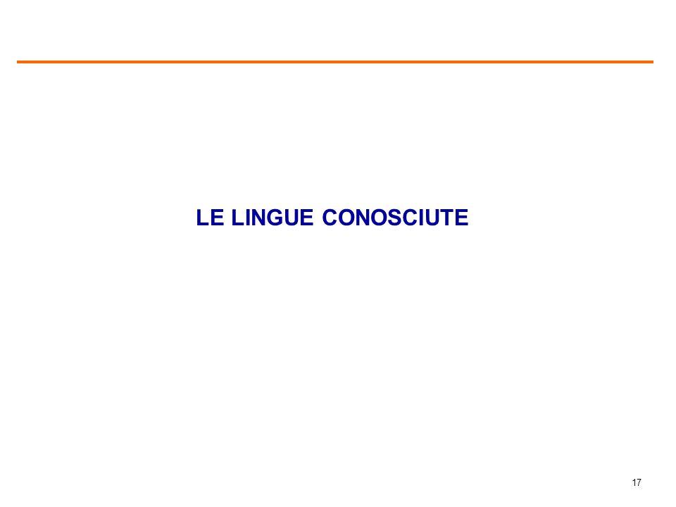 17 LE LINGUE CONOSCIUTE