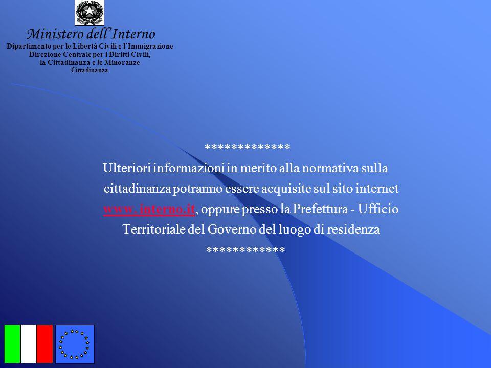 DOCUMENTAZIONE: (PER IL RICONOSCIMENTO AI SENSI LEGGE 14.12.2000, n.379)DOCUMENTAZIONE: (Da produrre in Comune se residente in Italia o al Consolato i