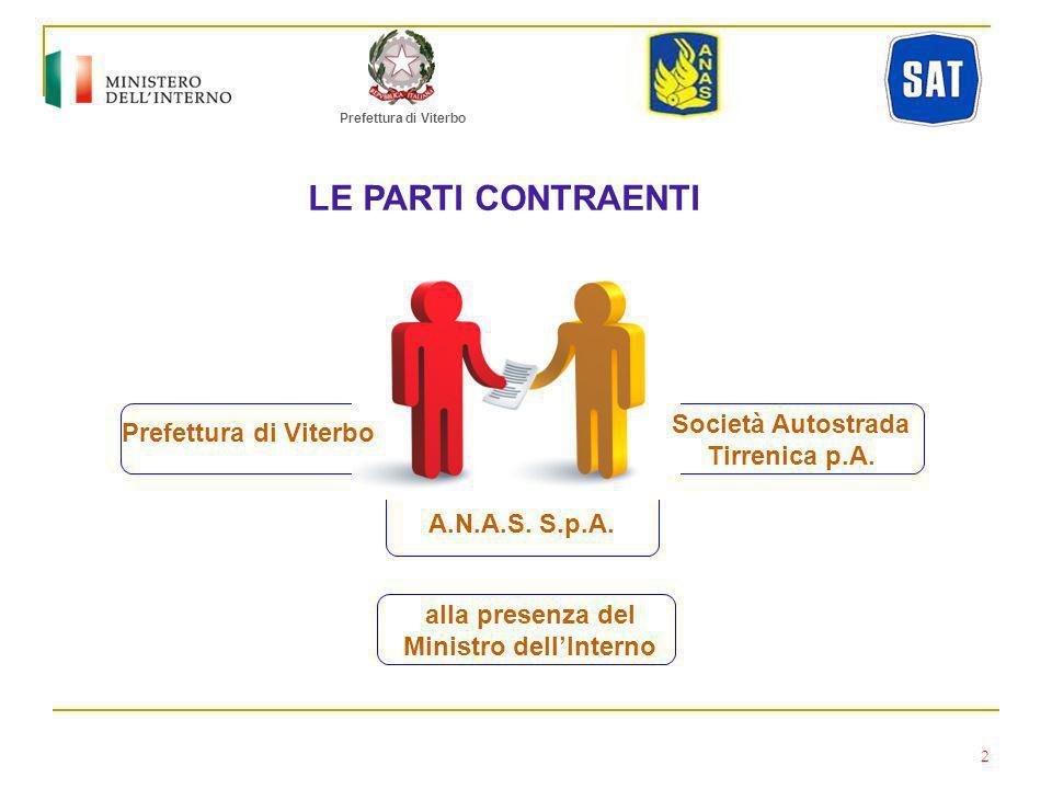 Prefettura di Viterbo A.N.A.S.S.p.A. Società Autostrada Tirrenica p.A.