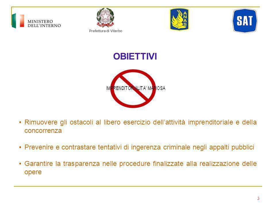 Prefettura di Viterbo CONFERIMENTO DATI SAT p.A.