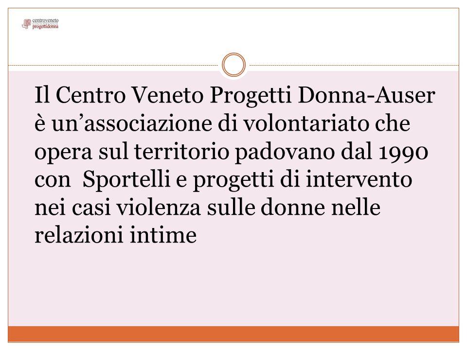 Il Centro Veneto Progetti Donna-Auser è un'associazione di volontariato che opera sul territorio padovano dal 1990 con Sportelli e progetti di interve