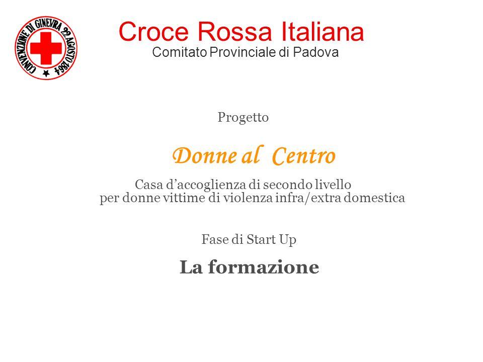 Croce Rossa Italiana Comitato Provinciale di Padova Progetto Donne al Centro Casa d'accoglienza di secondo livello per donne vittime di violenza infra/extra domestica Fase di Start Up La formazione
