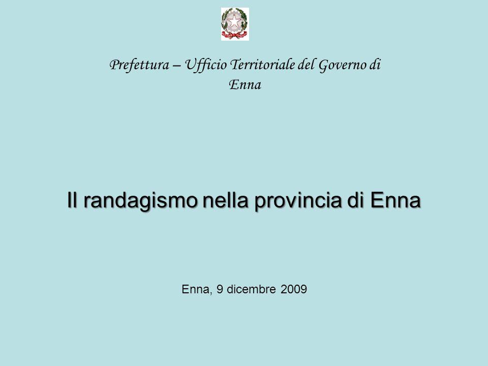 Prefettura – Ufficio Territoriale del Governo di Enna Il randagismo nella provincia di Enna Enna, 9 dicembre 2009