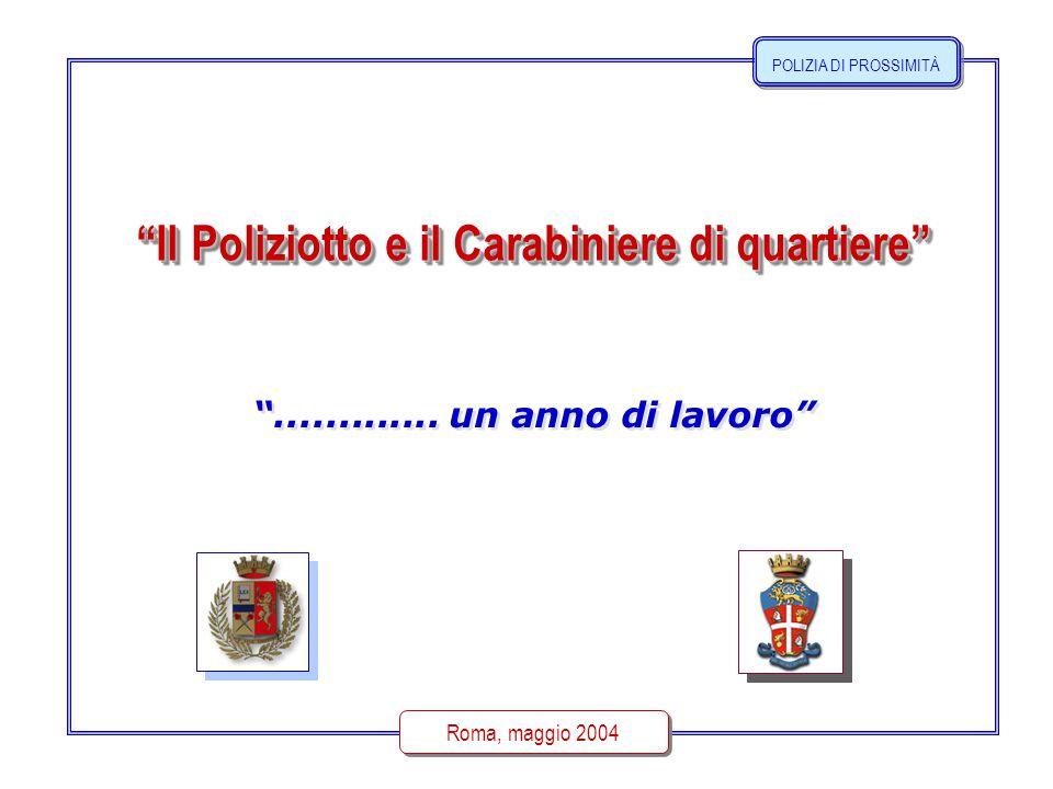 Il Poliziotto e il Carabiniere di quartiere Roma, maggio 2004 .............