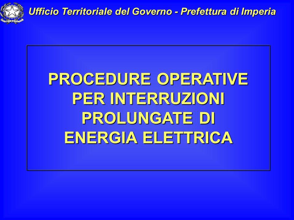 CRISI ENERGETICA ESTATE 2003 Distacchi programmati di energia elettrica in Provincia di Imperia 27 giugno - 1/23/24 luglio – 6/29 agosto 2003