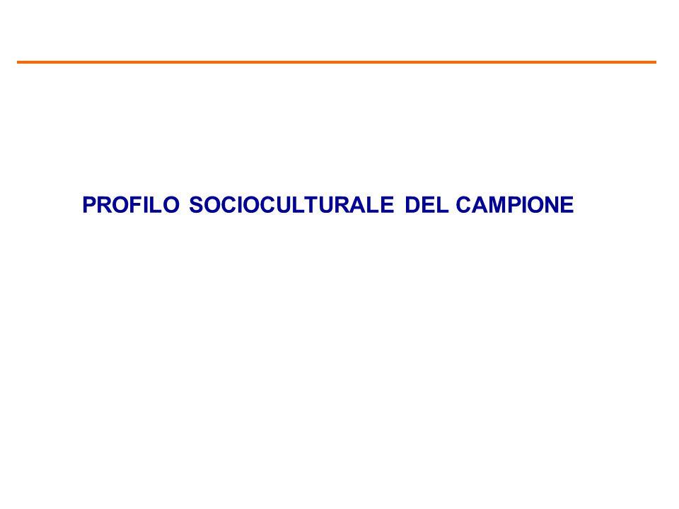 PROFILO SOCIOCULTURALE DEL CAMPIONE