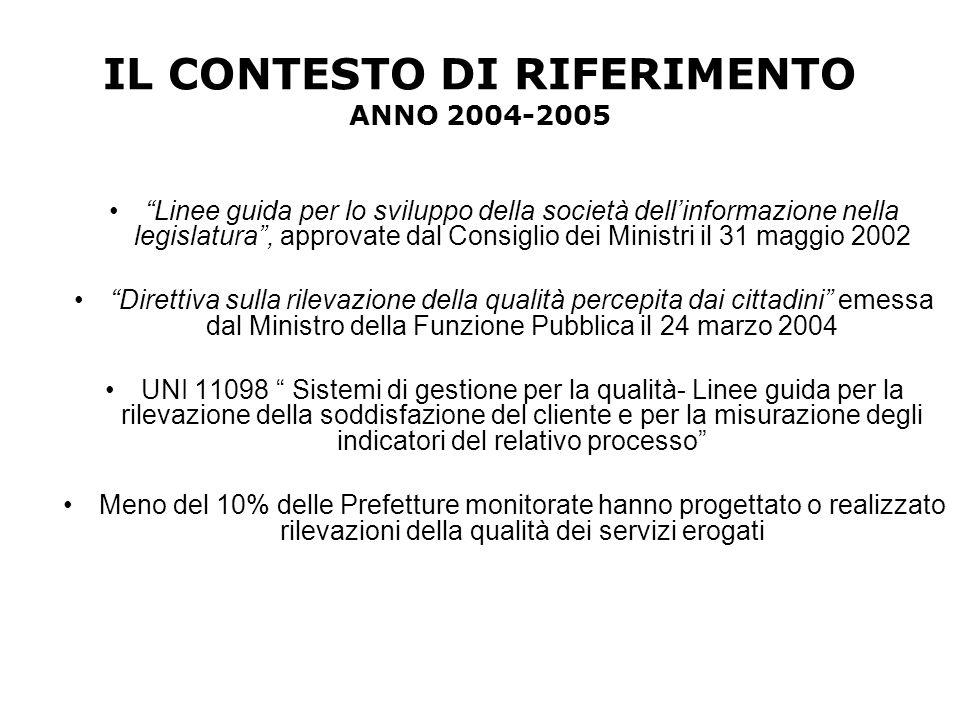 """IL CONTESTO DI RIFERIMENTO ANNO 2004-2005 """"Linee guida per lo sviluppo della società dell'informazione nella legislatura"""", approvate dal Consiglio dei"""