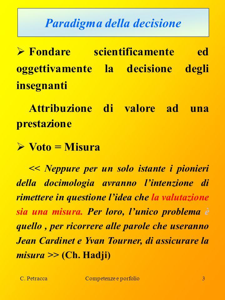 C.PetraccaCompetenze e porfolio34 VERIFICA E VALUTAZIONE DELLE COMPETENZE B.