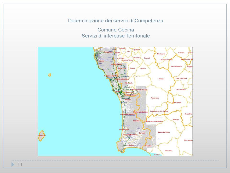 11 Comune Cecina Servizi di interesse Territoriale Determinazione dei servizi di Competenza