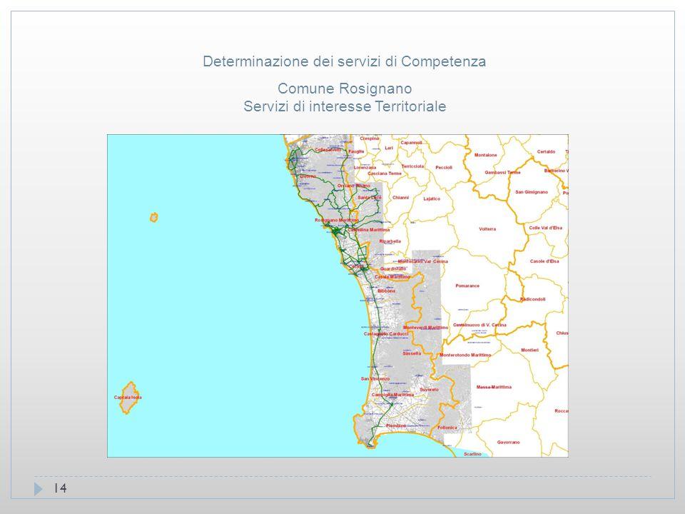 14 Comune Rosignano Servizi di interesse Territoriale Determinazione dei servizi di Competenza
