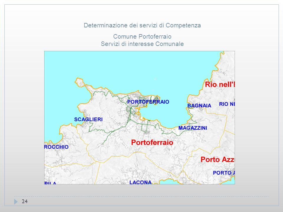 24 Comune Portoferraio Servizi di interesse Comunale Determinazione dei servizi di Competenza