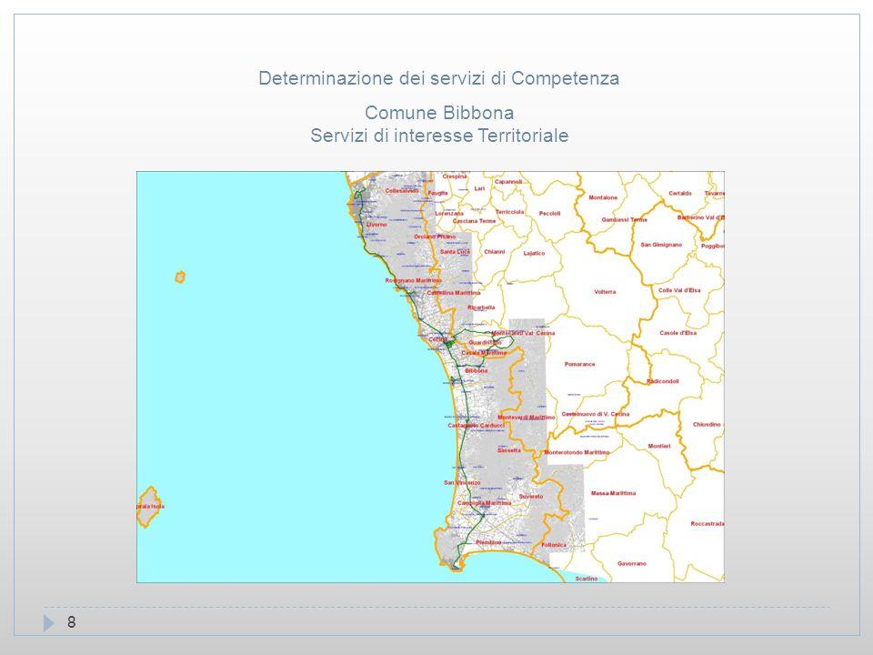 8 Comune Bibbona Servizi di interesse Territoriale Determinazione dei servizi di Competenza