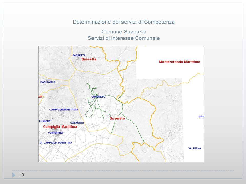 10 Comune Suvereto Servizi di interesse Comunale Determinazione dei servizi di Competenza