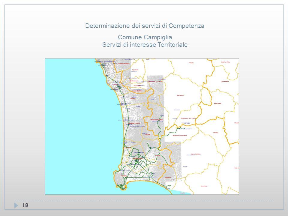 18 Comune Campiglia Servizi di interesse Territoriale Determinazione dei servizi di Competenza