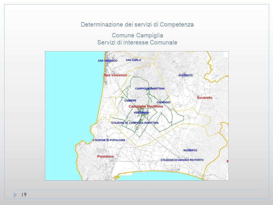 19 Comune Campiglia Servizi di interesse Comunale Determinazione dei servizi di Competenza