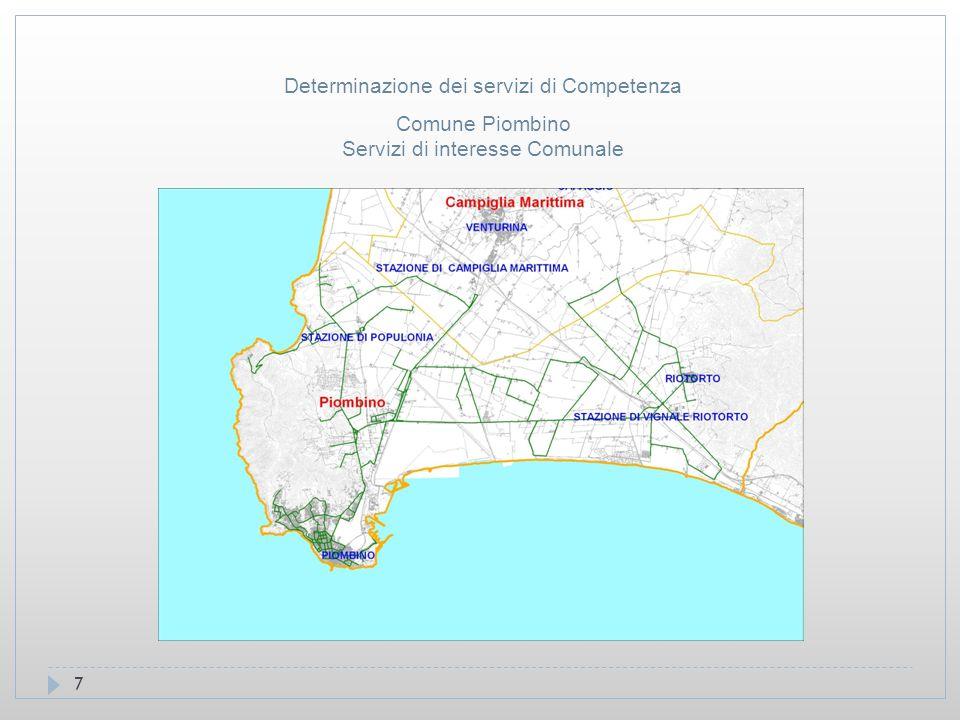 7 Comune Piombino Servizi di interesse Comunale Determinazione dei servizi di Competenza