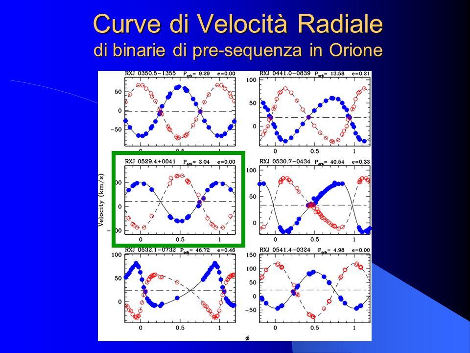 Curve di Velocità Radiale di binarie di pre-sequenza in Orione