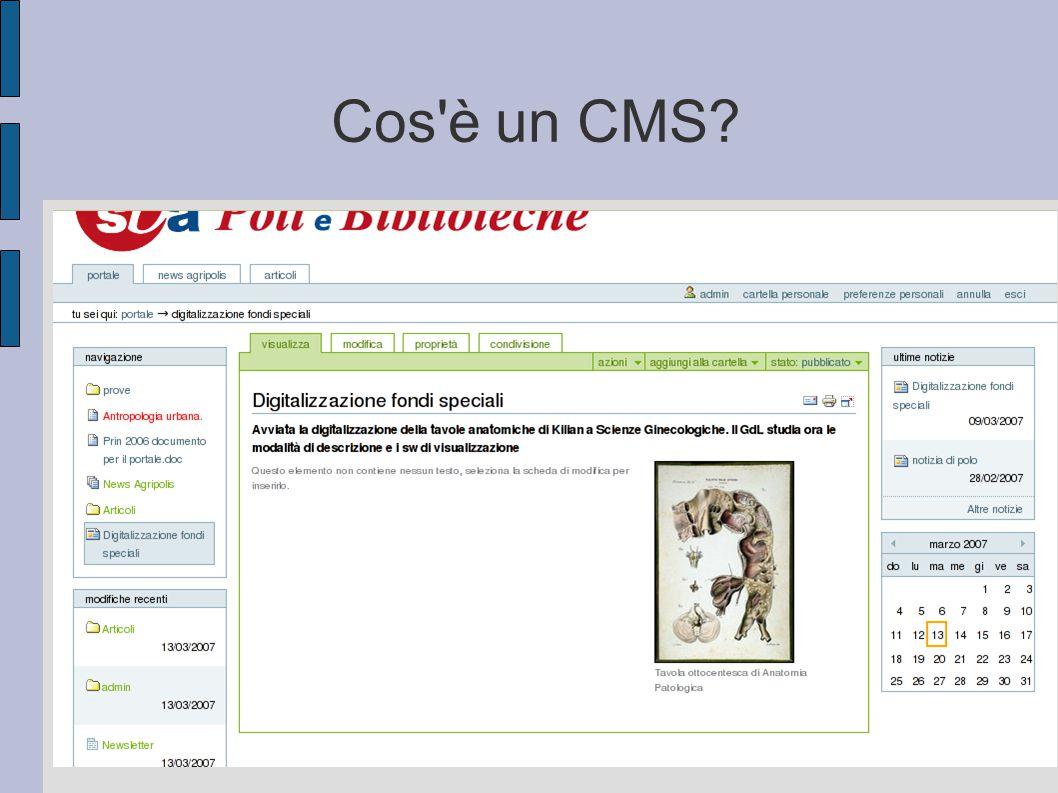 Cos'è un CMS?