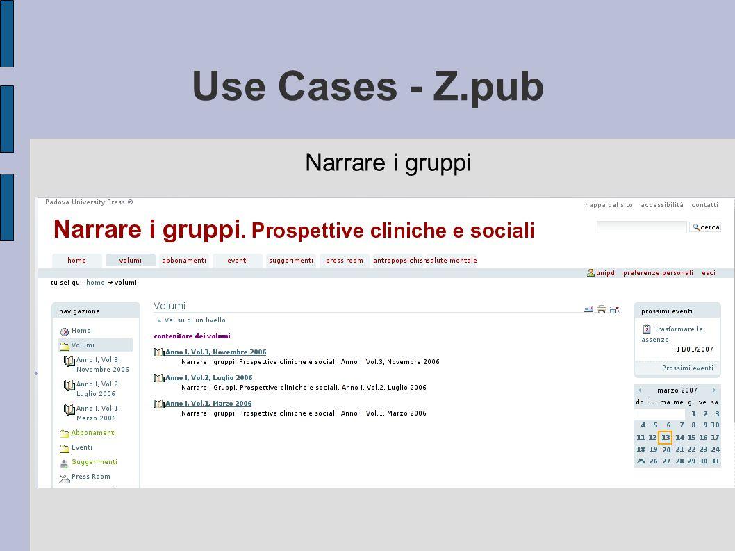 Use Cases - Z.pub Narrare i gruppi