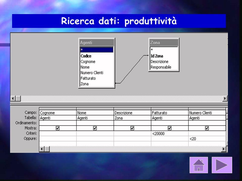 Ricerca dati: produttività Fatturato > 50.000 euro