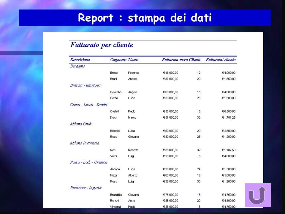 Struttura report