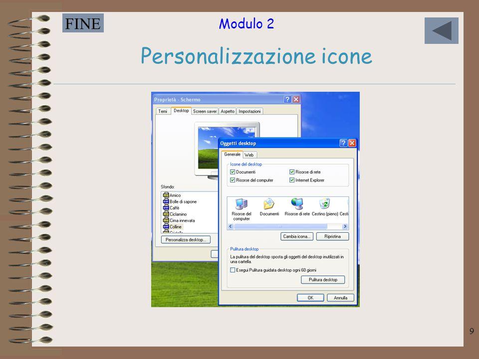 Modulo 2 FINE 9 Personalizzazione icone