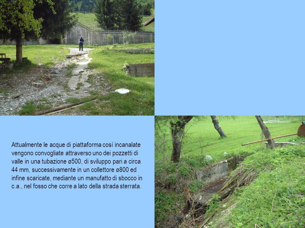 EVENTO ALLUVIONALE AGOSTO 2003 – CRITICITA' RISCONTRATE L'area oggetto di intervento è già stata in passato oggetto di studio da parte della Società Autostrade per l'Italia, anche in ragione del fatto che l'immissione nel fosso esistente delle acque provenienti dalla piattaforma autostradale, ha contribuito all'erosione dell'incisione esistente al lato della stradina forestale.