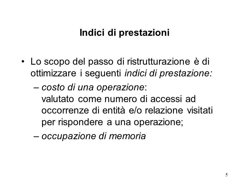 16 Scelta 1 Svantaggi: Incremento di occupazione di memoria (presenza di valori nulli per gli attributi non significativi).