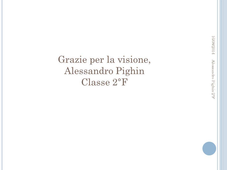 Grazie per la visione, Alessandro Pighin Classe 2°F 16/08/2014 Alessandro Pighin 2°F