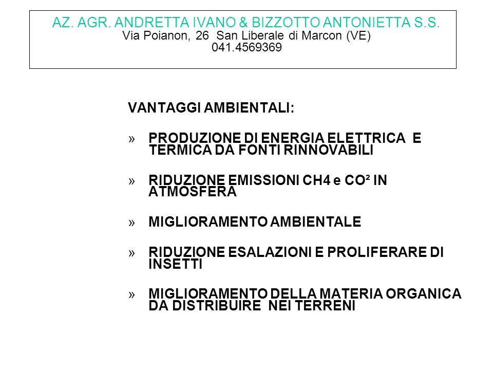 AZ.AGR. ANDRETTA IVANO & BIZZOTTO ANTONIETTA S.S.
