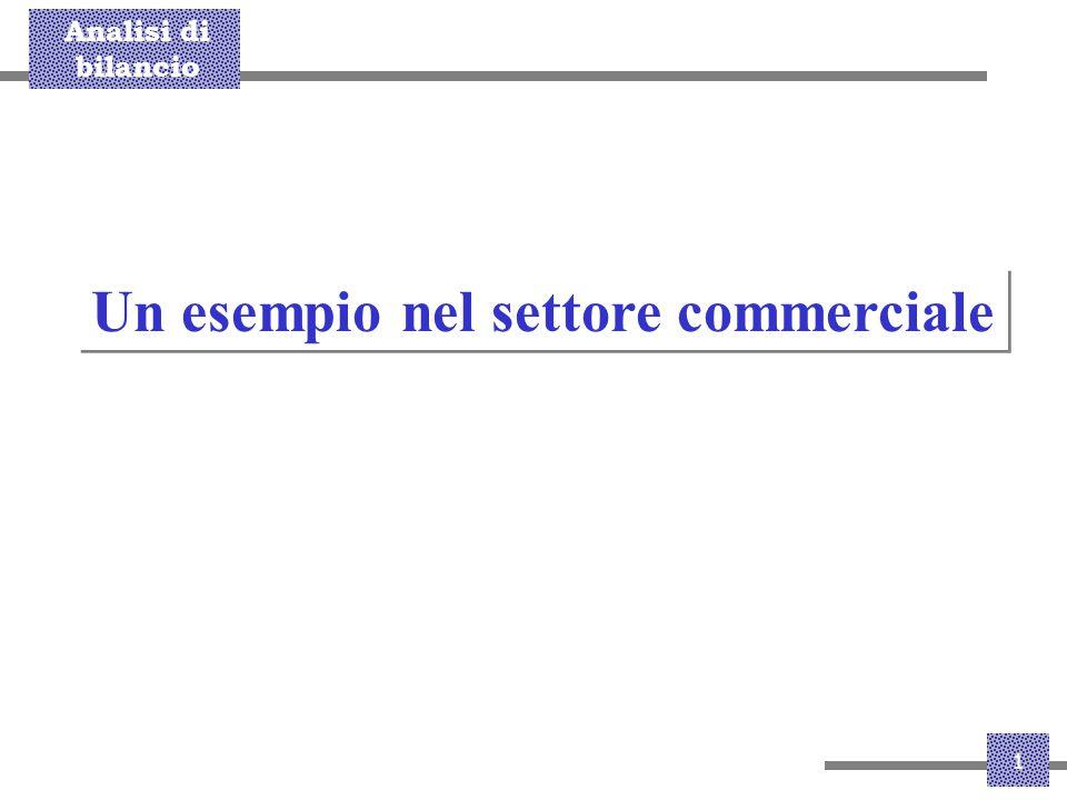 Analisi di bilancio 1 Un esempio nel settore commerciale