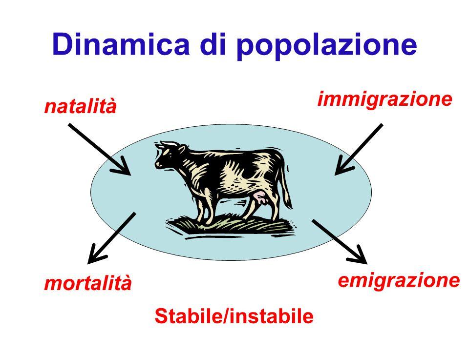 Dinamica di popolazione natalità mortalità emigrazione immigrazione Stabile/instabile
