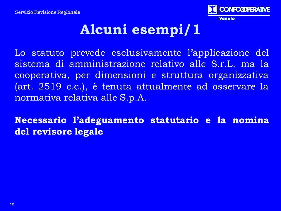 Lo statuto prevede esclusivamente l'applicazione del sistema di amministrazione relativo alle S.r.L. ma la cooperativa, per dimensioni e struttura org