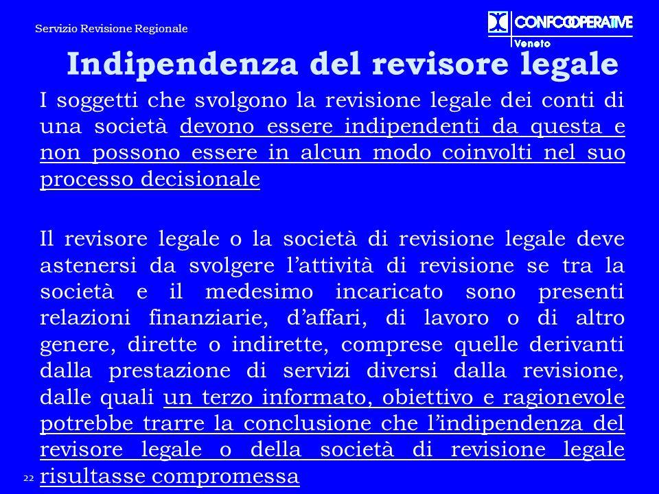 I soggetti che svolgono la revisione legale dei conti di una società devono essere indipendenti da questa e non possono essere in alcun modo coinvolti