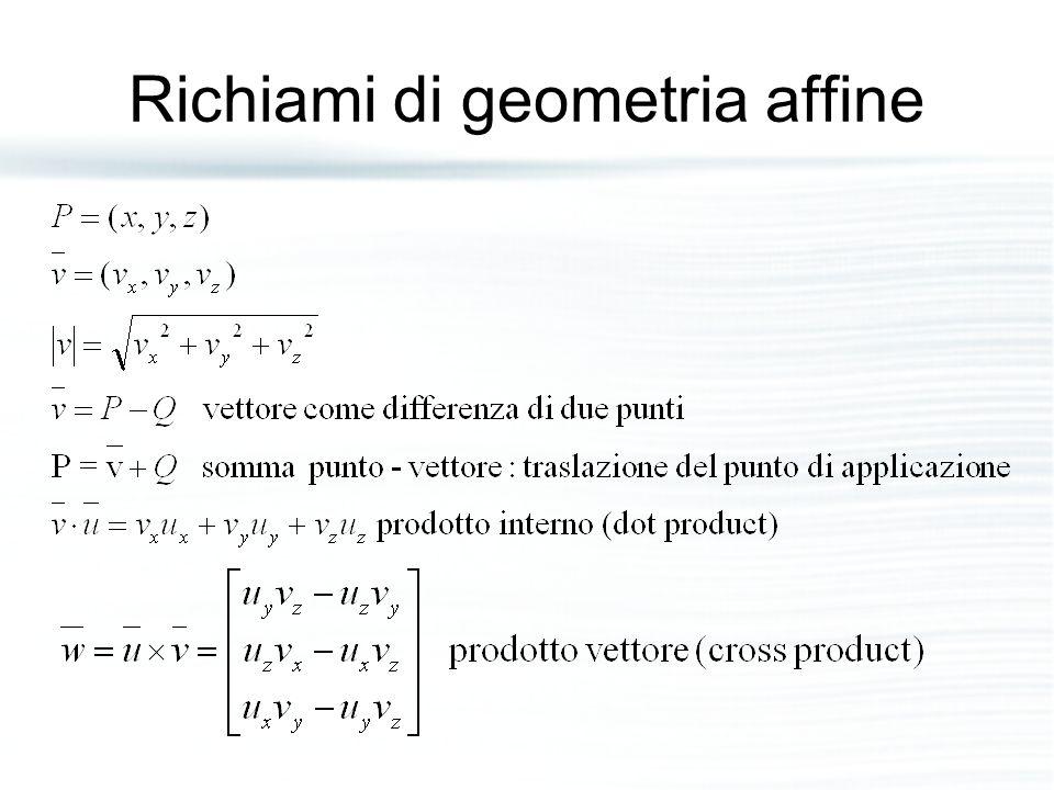 Richiami di geometria affine