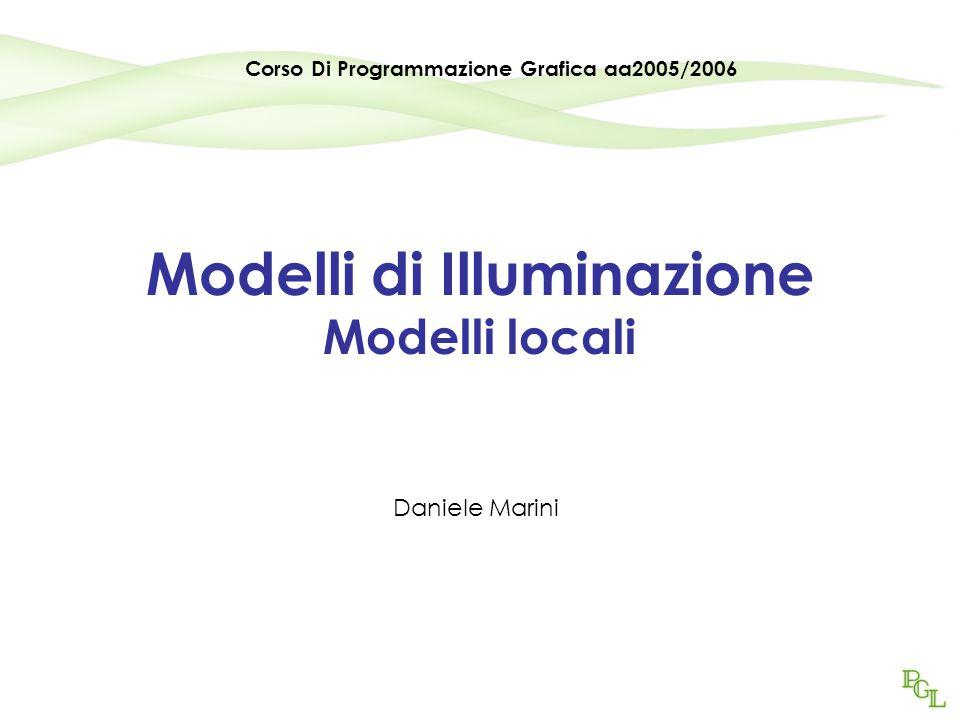 Programmazione Grafica aa2005/200631 Il metodo di Blinn È il metodo adottato in OpenGL e in Direct3D.