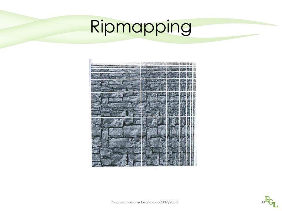 Programmazione Grafica aa2007/200830 Ripmapping