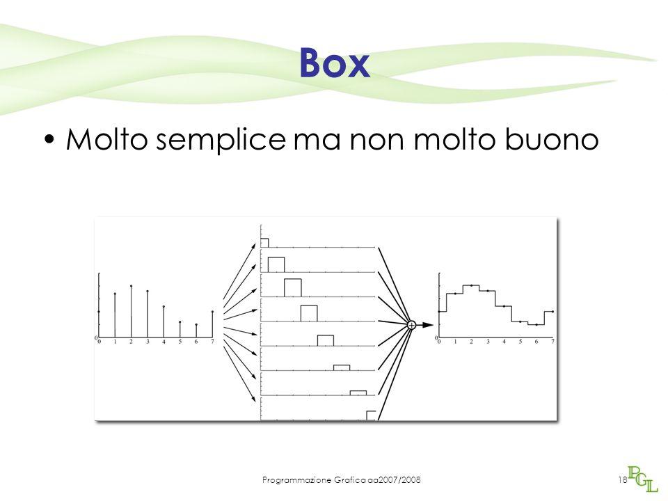 Programmazione Grafica aa2007/200818 Box Molto semplice ma non molto buono