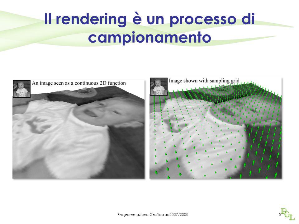 Programmazione Grafica aa2007/20085 Il rendering è un processo di campionamento