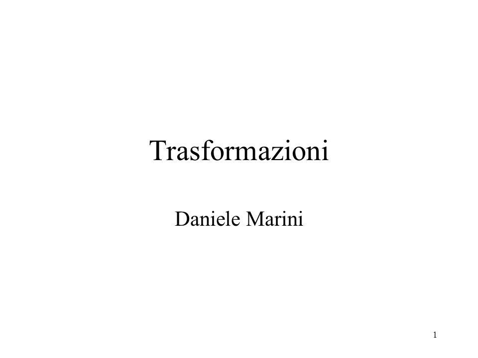 1 Trasformazioni Daniele Marini