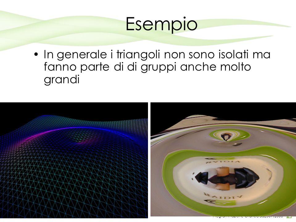 Programmazione Grafica aa2007/2008 Esempio In generale i triangoli non sono isolati ma fanno parte di di gruppi anche molto grandi 4