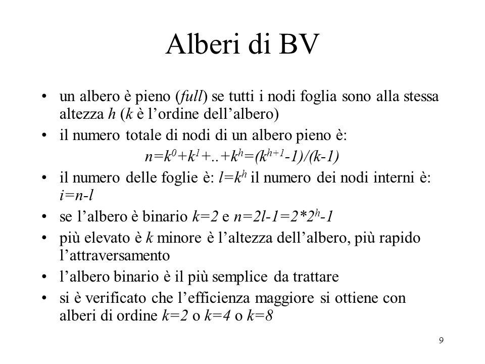 10 Alberi BV La costruzione di un albero con k=8 si fa semplicemente dividendo lo spazio lungo i tre assi principali con alberi BV la ricerca di intersezioni è ricorsiva dalla radice; se un raggio non interseca un BV non interseca neppure la geometria contenuta, e la ricerca nel sottoalbero può terminare Nel caso di scene dinamiche la gerarchia BV deve venire aggiornata: se il volume è spostato si controlla se appartiene ancora allo stesso BV, altrimenti si rimuove il volume e si ricomputa il padre, risalendo se necessario la gerarchia fino alla radice Per computare un BV occorre trovare una scatola che racchiude in modo efficiente i volumi della scena.