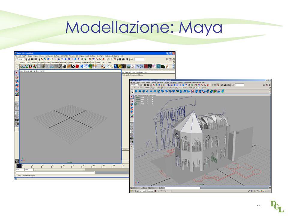 11 Modellazione: Maya
