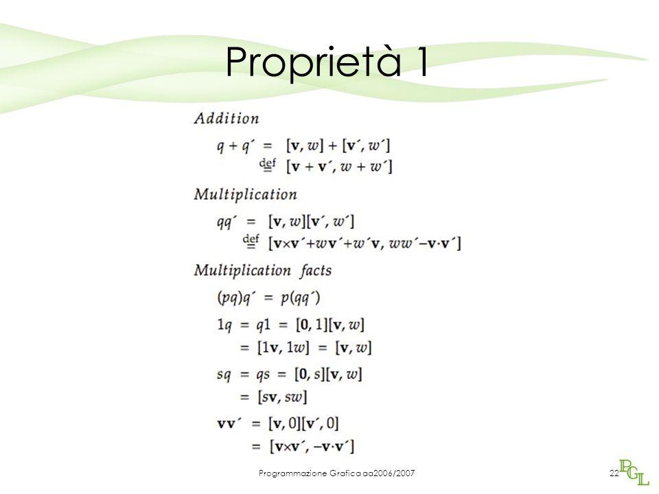 Programmazione Grafica aa2006/200722 Proprietà 1