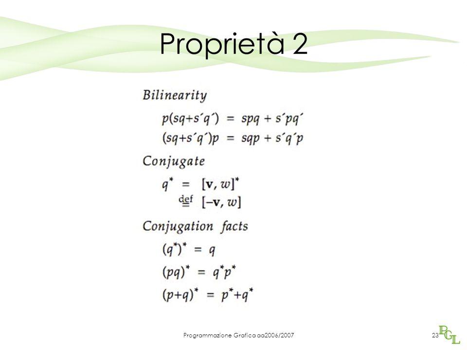 Programmazione Grafica aa2006/200723 Proprietà 2
