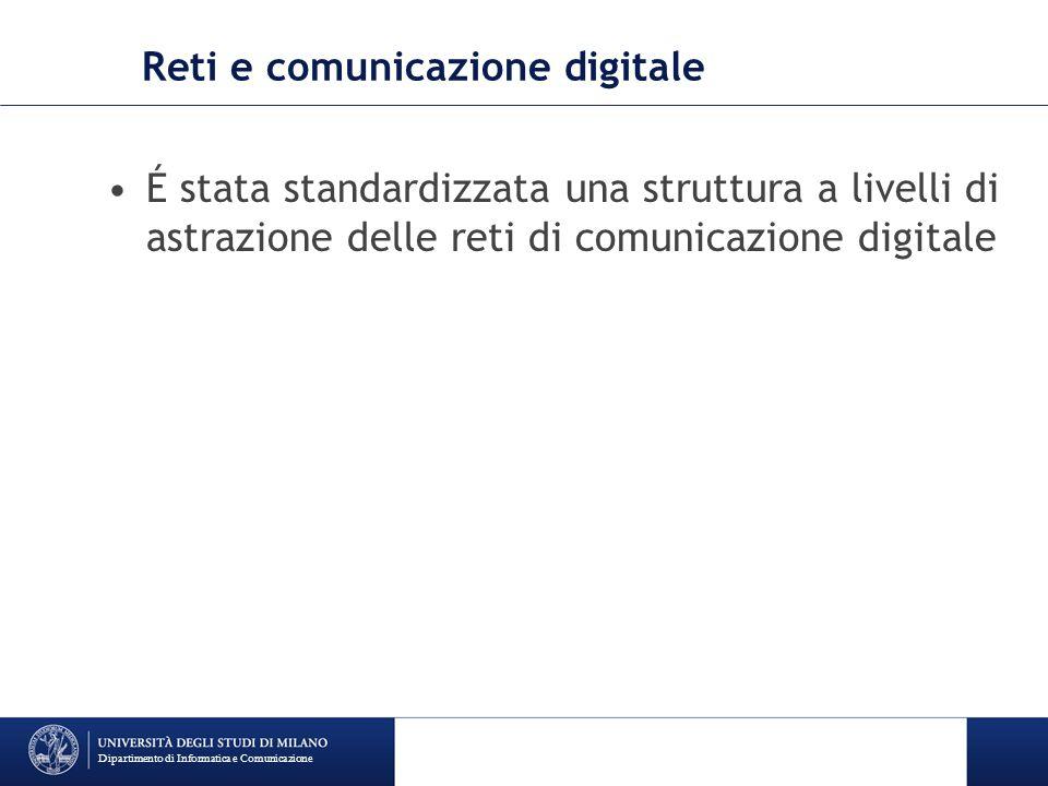 Reti e comunicazione digitale É stata standardizzata una struttura a livelli di astrazione delle reti di comunicazione digitale Dipartimento di Inform