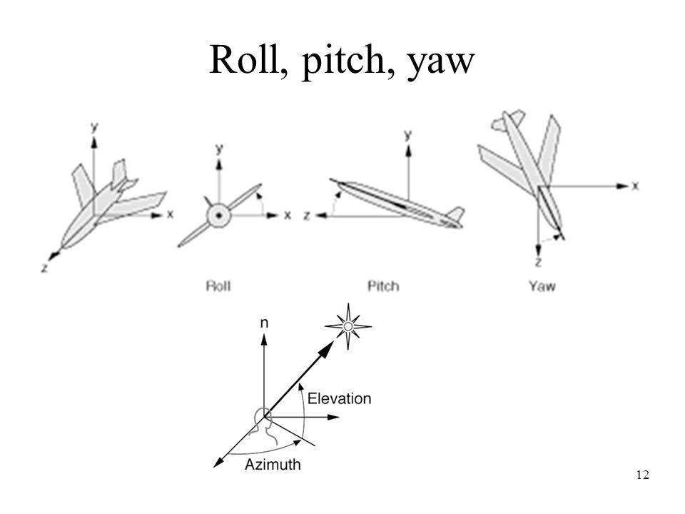 12 Roll, pitch, yaw