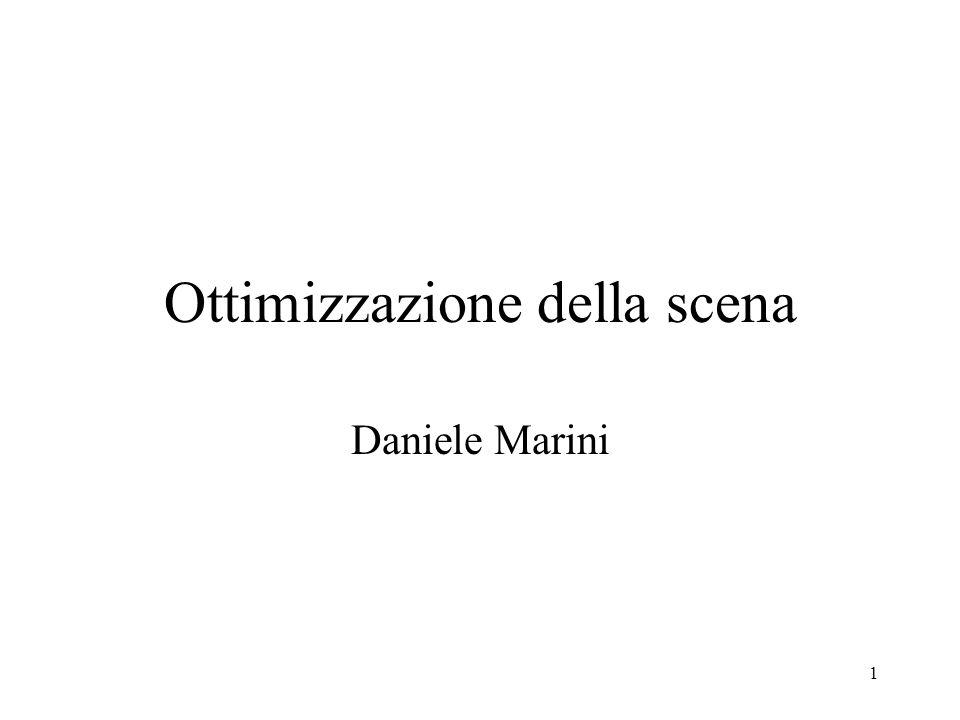 1 Ottimizzazione della scena Daniele Marini